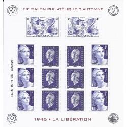 BLOC FEUILLET 14 TIMBRES (20 euros) - 69EME SALON PHILATELIQUE D'AUTOMNE - 2015 - NEUF