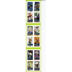 """BLOC CARNET N°1120 - """"BOUQUETS DE FLEURS"""" - 12 TIMBRES-POSTES - 2015 - 1 PLIURE SINON NEUF"""