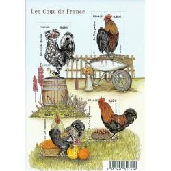 "Y&T 5008 à 5010 F - ""COQS DE FRANCE"" - 4 TIMBRES-POSTES DE 0.68 € - 2015 - NEUF"