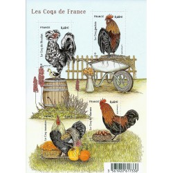 "Y&T 5008 TO 5010 F - STAMP BOOKLET ""COQS DE FRANCE"" - 4 STAMPS OF 0.68 € - 2015 - UNC"