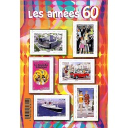 "STAMP BOOKLET ""LES ANNEES 60"" - 6 STAMPS OF 0.76 € - 2015 - UNC"