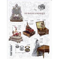 """BLOC FEUILLET N° 4993 F - """"LES BOITES A MUSIQUE"""" - 6 TIMBRES-POSTES DE 0.68 € - NEUF"""