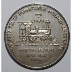 CUBA - KM 275 - 1 PESO 1989 - 1er Chemin de fer Hispano Américain