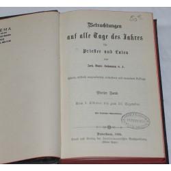 Betrachtungen auf alle Tage des Jahres für Priester und Laien de Lohmann Joh.Bapt. S.J. Tome 4 - 1894