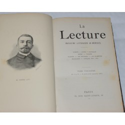 La Lecture - Bi-monthly literary magazine - Vol.13 - Ed. 1890