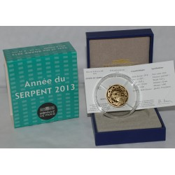 ANNEE DU SERPENT - CALENDRIER CHINOIS - 50 EURO 2013 - OR