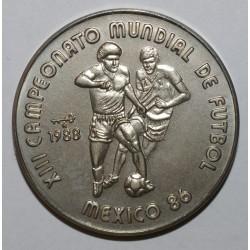 CUBA - KM 184 - 1 PESO 1988 - CHAMPIONNAT DU MONDE DE FOOT 1986