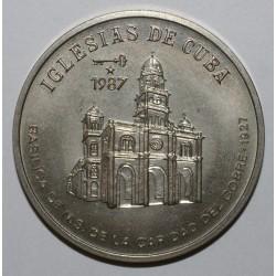CUBA - KM 150 - 1 PESO 1987 - EGLISES DE CUBA