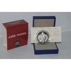 GRANDES CAUSES 2012 - ABBE PIERRE - 10 EURO - ARGENT - Belle Epreuve