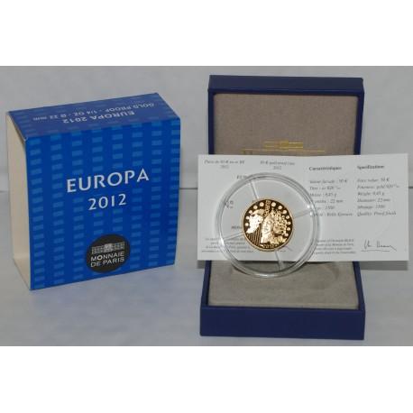 EUROPA - 50 EURO 2012 - OR - - BELLE EPREUVE