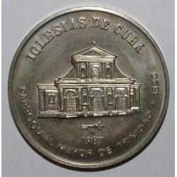 CUBA - KM 152 - 1 PESO 1987 - EGLISES DE CUBA