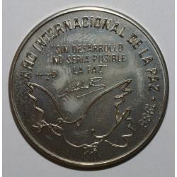 CUBA - KM 156 - 1 PESO 1986 - Année Internationale de la Paix