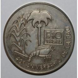 CUBA - KM 132 - 1 PESO 1985 - 40ème Anniversaire de F.A.O.