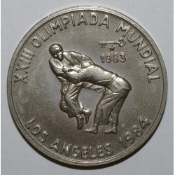 CUBA - KM 175 - 1 PESO 1983 - 1984 OLYMPICS - UNC