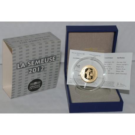 SEMEUSE - 50 EURO 2012 - OR - 10EME ANNIVERSAIRE DE L'EURO - Belle epreuve