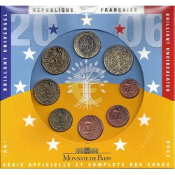 FRANCE - UNIVERSAL BRILLIANT EURO BOX 2006 - 8 COINS