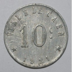 CAEN ( 14 ) - 10 CENT 1921 - Commercial and Industrial Union - GE 1.3