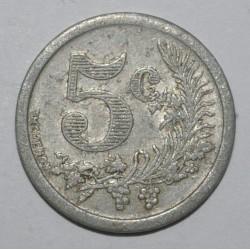 ORAN - ALGERIE - 5 CENT 1921 - Chambre de Commerce - TTB - GE 1.1