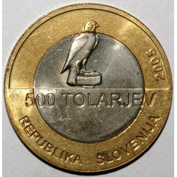 SLOVENIA - KM 63 - 500 TOLARJEV 2005 - RAPACIOUS - XF/UNC