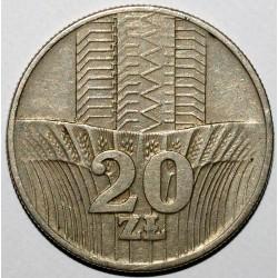 POLAND - Y 67 - 20 ZLOTYCH 1973 - EAGLE - VF