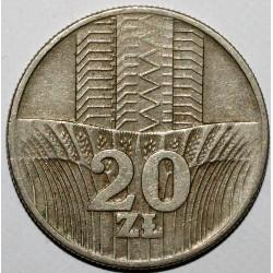 POLAND - Y 67 - 20 ZLOTYCH 1974 - EAGLE - VF