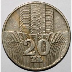 POLAND - Y 67 - 20 ZLOTYCH 1976 - EAGLE - VF