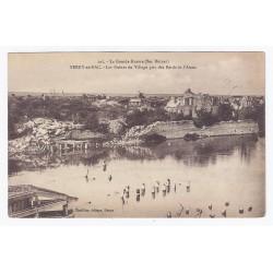 02160 - BERRY-AU-BAC - LA GRANDE GUERRE - LES RUINES DU VILLAGE PRIS DES BORDS DE L'AISNE