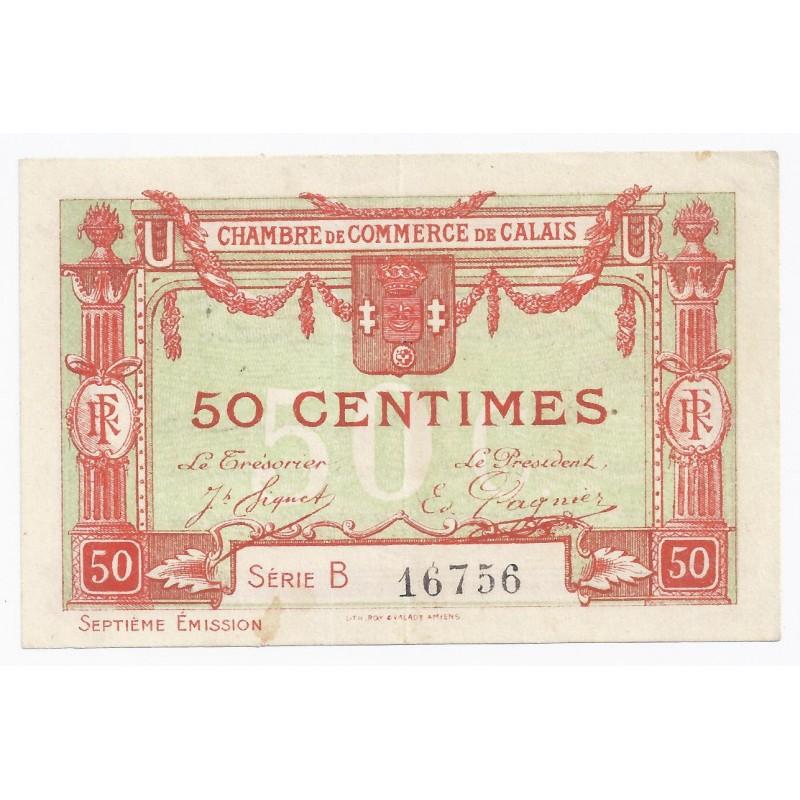 62 calais chambre de commerce 50 centimes tres for Chambre de commerce calais
