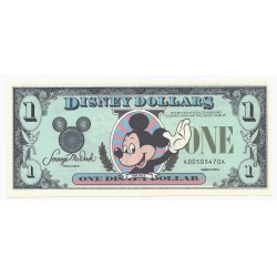USA - 1 DISNEY DOLLAR - 1987 - FDC