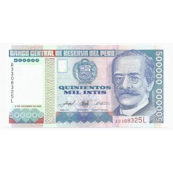 PEROU - PICK 145 - 500 000 INTIS - 21/12/1989 - NEUF