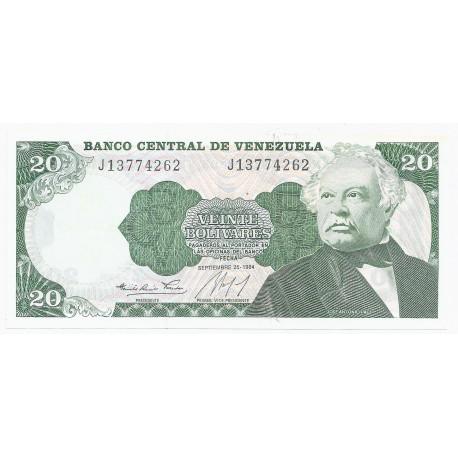 VENEZUELA - PICK 64 - 20 BOLIVARES - 25.09.1984 - NEUF