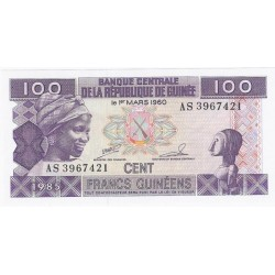 GUINEE - PICK 30 a - 100 FRANCS 1985 - NEUF
