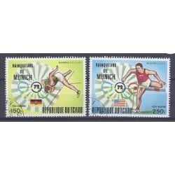 TCHAD - 2 TIMBRES - 150 ET 250 FRANCS - 1972 - JO DE MUNICH