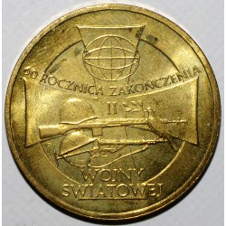 POLOGNE - Y 558 - 2 ZLOTYCH 2005 - 60 ANS DE LA FIN DE LA SECONDE GUERRE MONDIALE - SUP/FDC