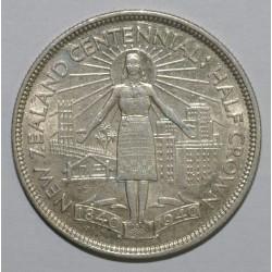 NEW ZEALAND - KM 14 - 1/2 CROWN 1940 - UNC