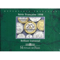 FRANCE - FRENCH COIN SERIE 1998 (10 COINS - FRANCS) - BU