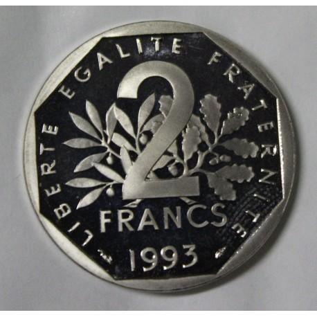 GADOURY 547b - 2 FRANCS 1993 TYPE SEMEUSE - BELLE EPREUVE - KM 942
