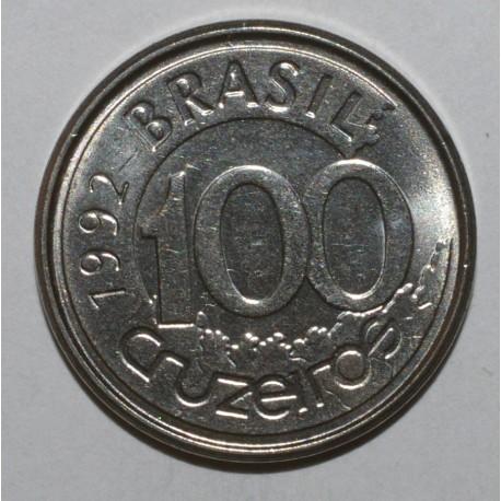 BRÉSIL - KM 623 - 100 CRUZEIROS 1992 - LAMANTIN - SUPERBE