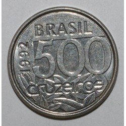 BRÉSIL - KM 624 - 500 CRUZEIROS 1993 - Tortue de Mer - SUPERBE