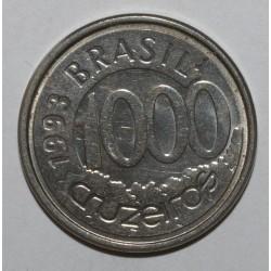 BRAZIL - KM 626 - 1000 CRUZEIROS 1993 - Fish - XF