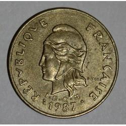 NOUVELLE CALEDONIE - KM 15 - 100 FRANCS 1987 - TTB