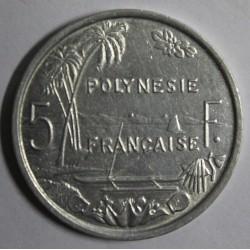 POLYNESIE FRANCAISE - KM 4 - 5 FRANCS 1965 - TTB/SUP