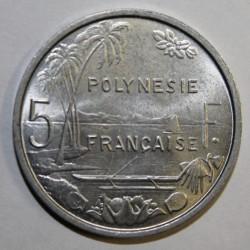 POLYNESIE FRANCAISE - KM 12 - 5 FRANCS 1975 - SUPERBE