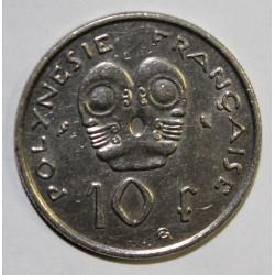 POLYNESIE FRANCAISE - KM 8 - 10 FRANCS 1973 - TTB