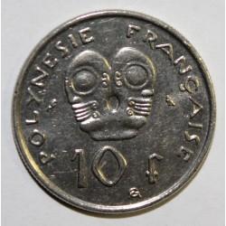 POLYNESIE FRANCAISE - KM 8 - 10 FRANCS 1973 - SUPERBE