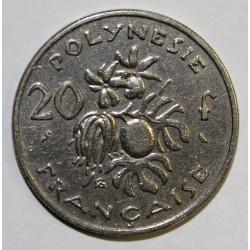 POLYNESIE FRANCAISE - KM 6 - 20 FRANCS 1967 - TTB