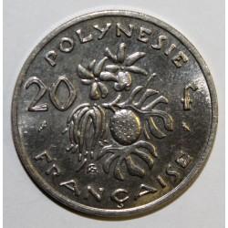 POLYNESIE FRANCAISE - KM 6 - 20 FRANCS 1969 - TTB+