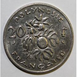 POLYNESIE FRANCAISE - KM 6 - 20 FRANCS 1970 - TTB