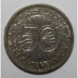 ALLEMAGNE - KM 49 - 50 REICHSPFENNIG 1927 A