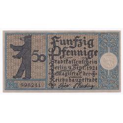 ALLEMAGNE - G. 92.1 - 50 PFENNING - 09/09/1921